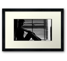 Awareness of the here and now Framed Print