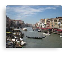 Street Scene of Venice Canvas Print