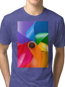 colored pinwheel Tri-blend T-Shirt