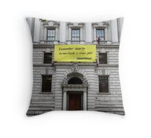 Green Bank Throw Pillow