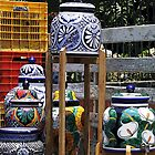 'Talavera' pots by Shirley  Poll