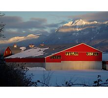 Fraser Valley Farming Photographic Print