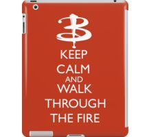 Walk through the fire iPad Case/Skin