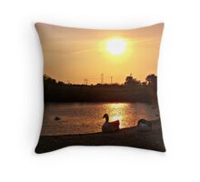 Restful Shores Throw Pillow
