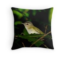 Red Eye Beauty in The Deep Dark Forest Throw Pillow