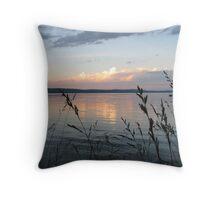 Sunset, Crystal Lake, Michigan Throw Pillow