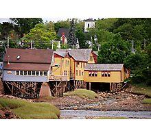 stilted homes in Bear River Nova Scotia / ca Photographic Print