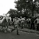 Palamino Ponies At Appleby Fair. by Lou Wilson