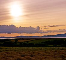 Solway Firth Sunset (Sunset on the Solway Firth) by Lou Wilson