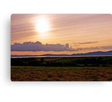 Solway Firth Sunset (Sunset on the Solway Firth) Canvas Print