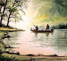 Greenbrier River WV - Fishing For Bass by bill holkham