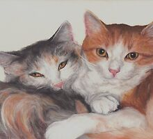 Sleepy Kitties by Pam Humbargar