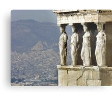 The Porch of the Caryatids of The Erechitheion Metal Print