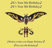 Mothra 8th birthday wish One Piece - Short Sleeve