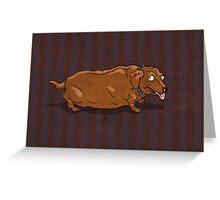fat dachshund Greeting Card
