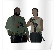 Sasha and Tyreese - The Walking Dead Poster