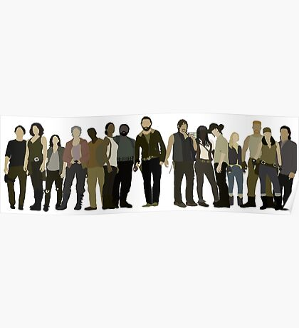 The Walking Dead Cast Poster