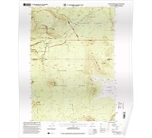 USGS Topo Map Oregon Pumice Desert West 281189 1998 24000 Poster