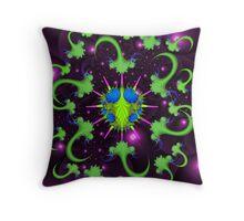 Giardia Bug with Anti-Virus Throw Pillow