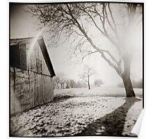 { winter sundown } Poster