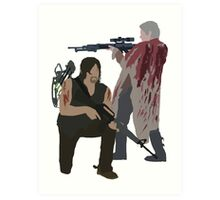Carol Peletier and Daryl Dixon (Version 2) - The Walking Dead Art Print