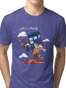 Clara and Doctor Tri-blend T-Shirt