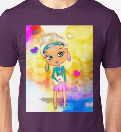 Cute girl with big eyes Unisex T-Shirt