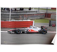 Jenson Button McLaren 04 at Silverstone 2011 Poster