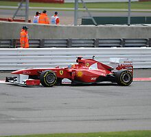 Alonso - Winner of Silverstone 2011 by Robert G Robson