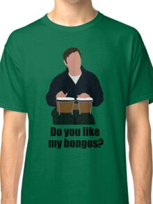Sheldon Cooper Playing Bongos (with quote) - Minimalist design Classic T-Shirt