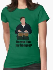 Sheldon Cooper Playing Bongos (with quote) - Minimalist design Womens Fitted T-Shirt