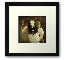 a symptom of neurotic insecurity Framed Print