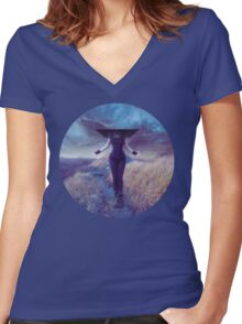 Entropic misadventure Women's Fitted V-Neck T-Shirt
