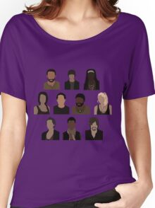 The Walking Dead Cast - Minimalist style Women's Relaxed Fit T-Shirt