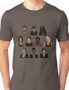 The Walking Dead Cast - Minimalist style Unisex T-Shirt