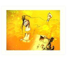 Freedom in the Savanna Sun Art Print