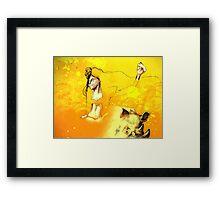 Freedom in the Savanna Sun Framed Print