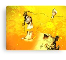 Freedom in the Savanna Sun Canvas Print