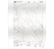 USGS Topo Map Oregon Collins Rim 20110817 TM Poster