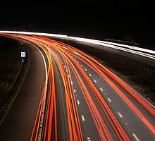 M6 at Night by Stephen Hall