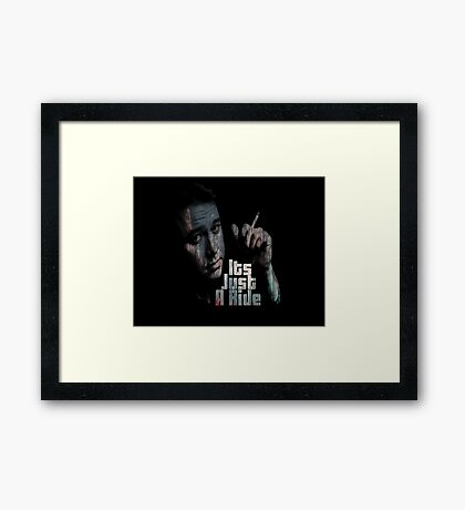 Its just a ride Framed Print