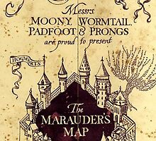 Harry potter castle, The Marauders Map by dreamcontrol