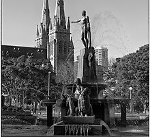 Archibald fountain Hyde Park Sydney  by Adriano Carrideo
