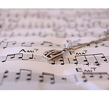 The love for music Photographic Print