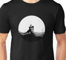 DINO MUSICIAN - Dinosaur with Harp - Dino Collection Unisex T-Shirt