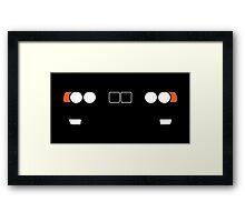 E34 headlight and kidney grill design Framed Print