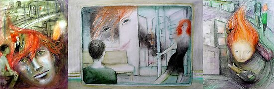 following the girl with the red hair  by annamora