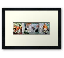 following the girl with the red hair  Framed Print