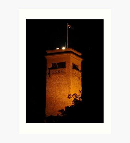 Rocky Hill by night, Goulburn, NSW Art Print