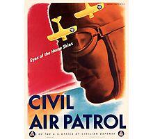 Civil Air Patrol ~ Vintage World War 2 WWII Poster ~ Air Force Pilot ~ 0536 Photographic Print